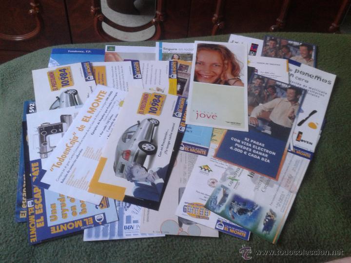 LOTE DE 28 FOLLETOS PUBLICITARIOS PUBLICIDAD BANCOS CAJAS BANCO CAJA OFERTAS PROMOCION AÑOS 90 2000 (Coleccionismo - Documentos - Documentos Bancarios)