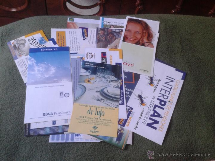 Documentos bancarios: LOTE DE 28 FOLLETOS PUBLICITARIOS PUBLICIDAD BANCOS CAJAS BANCO CAJA OFERTAS PROMOCION AÑOS 90 2000 - Foto 2 - 43764317