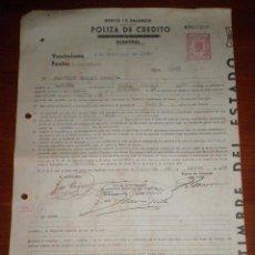 Documentos bancarios: 1954. POLIZA DE CREDITO. IMPRESA 120 PTS. ADHERIDAS EFECTOS DE COMERCIO 1ª, 2ª, 6ª Y 8ª BANCA MARCH. Lote 48522802