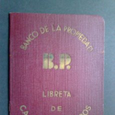 Documentos bancarios: LIBRETA DE AHORROS,EXP.1939 (COMPL.14 PAG.) BP- BANCO DE PROPIEDAD-CAJA DE AHORROS. Lote 44381358