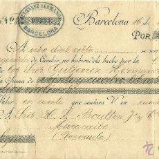 Documentos bancarios: LETRA DE CAMBIO. LIBRADOR: GUTIÉRREZ HNOS. LIBRADO: BOULTON & Cª. JEREZ DE LA FRA. CÁDIZ. 1894.. Lote 47980852