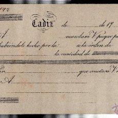 Documentos bancarios: LETRA DE CAMBIO. CADIZ. . Lote 45495806