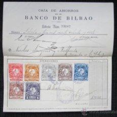 Documentos bancarios: LIBRETA DE CAJA DE AHORROS. BANCO DE BILBAO. AÑO 1907. . Lote 45699506