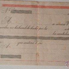 Documentos bancarios: LETRA DE CAMBIO SIN COMPLIMENTAR, FIRMADA, AÑOS 40. Lote 47022609