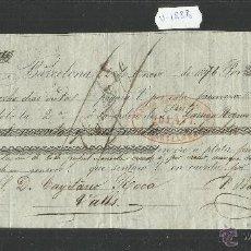 Documentos bancarios: BARCELONA - BAURIER HNOS. - AÑO 1876 - LETRA DE CAMBIO - (V-1888). Lote 47281434