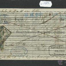 Documentos bancarios: HARO - SANTIAGO RUIZ - AÑO 1876 - LETRA DE CAMBIO - (V-1889). Lote 47281464