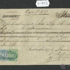 Documentos bancarios: SANTANDER - JOSE MARTINEZ ZORRILLA - AÑO 1876 - LETRA DE CAMBIO - (V-1892). Lote 47281538