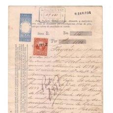 Documentos bancarios: ANTIGUO PAGARÉ.AÑO 1878. Lote 47321373