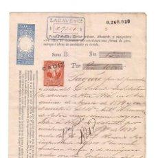 Documentos bancarios: ANTIGUO PAGARÉ.AÑO 1879. Lote 47321448