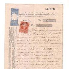 Documentos bancarios: ANTIGUO PAGARÉ.AÑO 1878. Lote 47321527