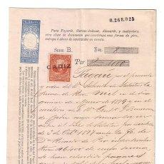 Documentos bancarios: ANTIGUO PAGARÉ.AÑO 1878. Lote 47321537