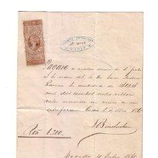 Documentos bancarios: ANTIGUO PAGARÉ.AÑO 1868. Lote 47321548