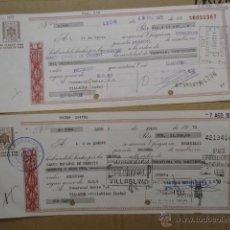 Documentos bancarios: DOS LETRAS DE CAMBIO GRANDES. Lote 47326421
