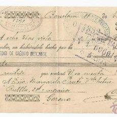 Documentos bancarios: LETRA DE CAMBIO AÑO 1917 - SOCIEDAD DE CREDITO MERCANTIL. Lote 47376833