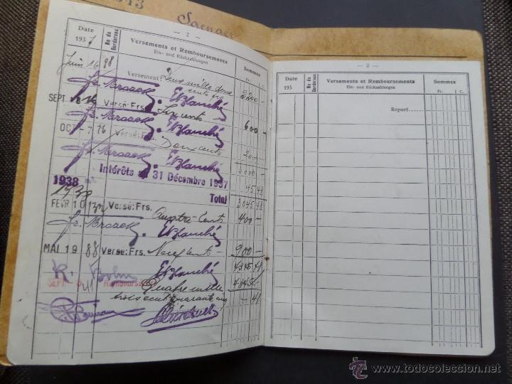 Documentos bancarios: Libreta del Fondo de Ahorro de Strasbourg. Abierta el año 1937. - Foto 2 - 47719486