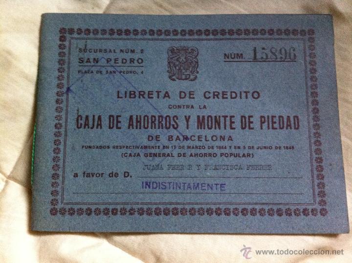 LIBRETA DE AHORROS A LA VISTA CAJA DE PENSIONES PARA LA VEJEZ Y DE AHORROS 1962 (Coleccionismo - Documentos - Documentos Bancarios)