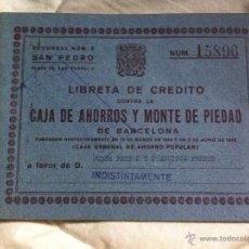 Documentos bancarios: LIBRETA DE AHORROS A LA VISTA CAJA DE PENSIONES PARA LA VEJEZ Y DE AHORROS 1962. Lote 48383253