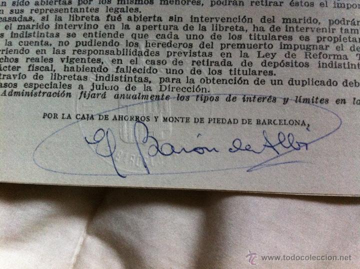 Documentos bancarios: Libreta de ahorros a la vista Caja de Pensiones para la Vejez y de Ahorros 1962 - Foto 3 - 48383253