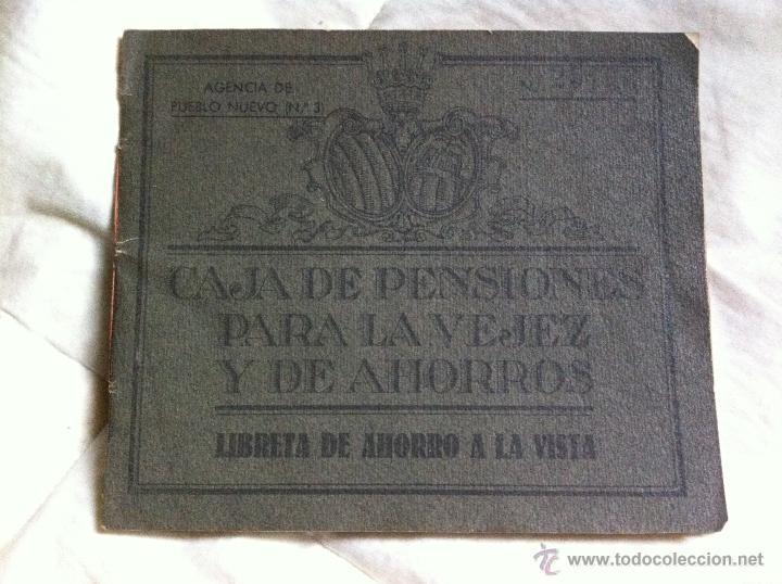 LIBRETA DE AHORROS CAJA DE PENSIONES PARA LA VEJEZ Y DE AHORROS 1952 (Coleccionismo - Documentos - Documentos Bancarios)