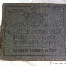 Documentos bancarios: LIBRETA DE AHORROS CAJA DE PENSIONES PARA LA VEJEZ Y DE AHORROS 1952. Lote 48383498