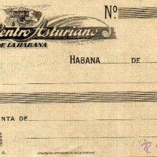 Documentos bancarios: CHEQUE CAJA AHORROS SOCIOS CENTRO ASTURIANO DE LA HABANA. CUBA. HAVANA. 1920. PESOS. ORO OFICIAL.. Lote 48739716
