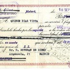 Documentos bancarios: LETRA CAMBIO 1964.CLASE 12.BANCO HISPANO AMERICANO.GENEROS PUNTO ALBERT.MATARO BARCELONA.TEXTIL. Lote 48841220