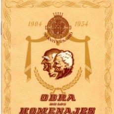 Documentos bancarios: FOLLETO OBRA SOCIAL CAJA PENSIONES VEJEZ Y AHORRO CAIXABANK LA CAIXA 1954 PENSIONS HOMENAJE VEJEZ. Lote 49343826
