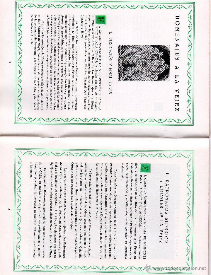 Documentos bancarios: FOLLETO OBRA SOCIAL CAJA PENSIONES VEJEZ Y AHORRO CAIXABANK LA CAIXA 1954 PENSIONS HOMENAJE VEJEZ - Foto 2 - 49343826