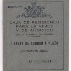 Documentos bancarios: LIBRETA AHORRO PLAZO 1970 CAJA PENSIONES VEJEZ AHORROS CATALUÑA BALEARES ANTIGUA. Lote 49638726