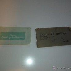Documentos bancarios: TALON DE BANCO BILBAO Y BANCO RURAL Y MEDITERRANEO. Lote 49758873