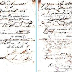 Documentos bancarios: 1834.- DOCUMENTO PAGARE NOMINATIVO LIBRADO POR MIGUEL FUERTES DE PALENCIA POR 2.000 REALES DE VELLON. Lote 49780669
