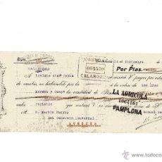 Documentos bancarios: ANTIGUA LETRA DE CAMBIO DE MORENO Y COMPAÑIA DE CALAHORRA AÑO 1920. Lote 49869644