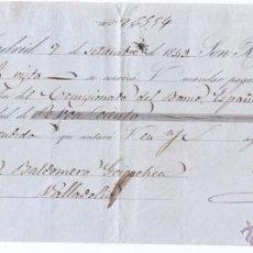 Documentos bancarios: LETRA DE CAMBIO. AGUIRRE Y COMPAÑÍA. MADRID 1849.. Lote 49919553