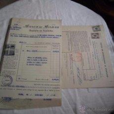 Documentos bancarios: BANCO ESPAÑOL DE CREDITO DEPOSITO EN CUSTODIA Y POLIZA DE OPERACIONES AL CONTADO 1949. Lote 49939621