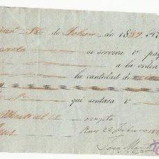 Documentos bancarios: LETRA DE CAMBIO AÑO 1837 EXPEDIDA EN BARCELONA A CARGO DE JOSÉ MARTI DE REUS -150 PESOS FUERTES. Lote 50027351
