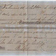 Documentos bancarios: LETRA DE CAMBIO AÑO 1861 EXPEDIDA EN VALENCIA POR JOSÉ DOMINGO A CARGO DE MARTI I ORDEIG DE REUS. Lote 50027403
