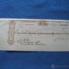 Documentos bancarios: HABANA - LETRA CAMBIO - J.A. BANCES - DIEZ VERGARA Y CIA - JEREZ DE LA FRONTERA - 1073.52 PESOS. Lote 50223134