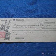 Documentos bancarios: LETRA DE CAMBIO EN BLANCO DE PRIMEROS DEL SIGLO XX DE 350 A 500 PESETAS . Lote 50223184