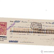 Documentos bancarios: ANTIGUA LETRA DE CAMBIO LEGIA EL TIGRE DE PAMPLONA DE LOS AÑOS 20. Lote 50400387