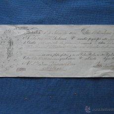 Documentos bancarios: LETRA DE CAMBIO FECHADA EN SEVILLA EN 1840 . Lote 50548498