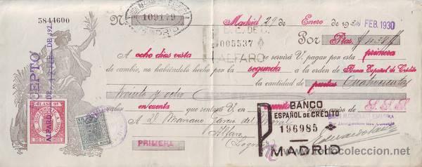 LETRA DE CAMBIO AÑO 1930. (Coleccionismo - Documentos - Documentos Bancarios)
