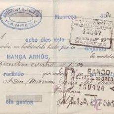 Documentos bancarios: LETRA DE CAMBIO 1930.. Lote 50548563