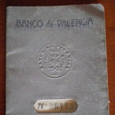 Documentos bancarios: 1935 CALLOSA DE ENSARRIA. BANCO DE VALENCIA, LIBRETA AHORRO. VECINO POLOP (ALICANTE). RESELLO BANCO. Lote 50796762