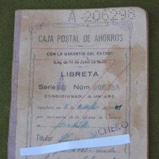 Documentos bancarios: CARTILLA DE CAJA POSTAL DE AHORROS - AÑO APERTURA : 1941. Lote 50804275