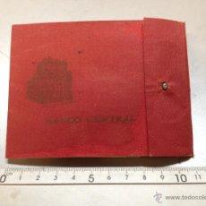 Documentos bancarios: TALONARIO BANCO CENTRAL 1960 (A). Lote 50920425