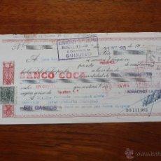 Documentos bancarios: LETRA DE CAMBIO, BANCO COCA . Lote 51017540