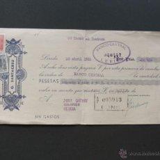 Documentos bancarios: LETRA DE CAMBIO / G. SANTACREU. / LLEIDA 1953 / OLIANA / PONS. Lote 51029193