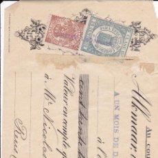 Documentos bancarios: TALON NICOLAS MESTRES REUS 1911 CON SELLO BANCA VILELLA REUS. Lote 51143269