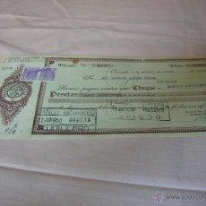 Documentos bancarios: CHEQUE BANCO HERRERO AÑO 1950 CUDILLERO . Lote 51171058
