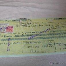 Documentos bancarios: CHEQUE BANCO HERRERO GIJÓN ,AÑO 1936. Lote 51205432